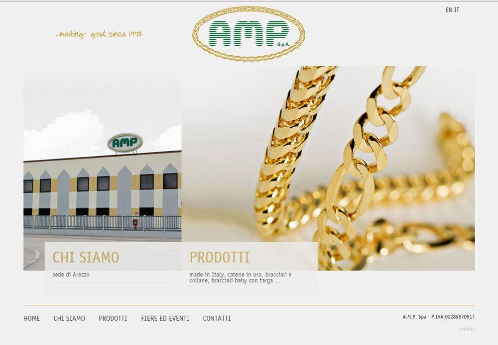 Sito Web azienda A.M.P. spa